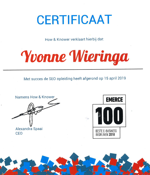 certificaat how en knower